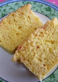 苺マーブル模様のヨーグルト蒸しケーキ