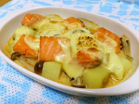 鮭ときのこの味噌ヨーグルトグラタン☆