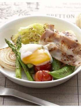 ベーコン&春野菜のおかずサラダ