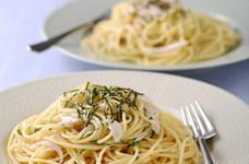 新玉たっぷり♪大葉とたらこのスパゲティ