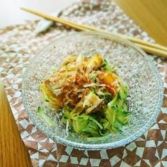 受験生の夕食♪ 干物のサラダ