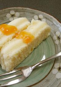ルクエで♪ヨーグルト蒸しケーキ