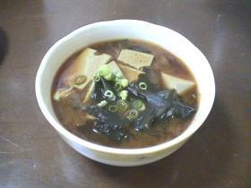 ♪黒ゴマ入り豆腐のおみそ汁♪