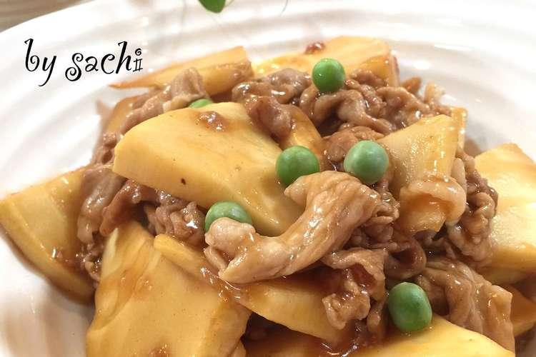 豚肉 レシピ たけのこ 筍と空芯菜と豚肉のニンニク炒め♫ レシピ・作り方