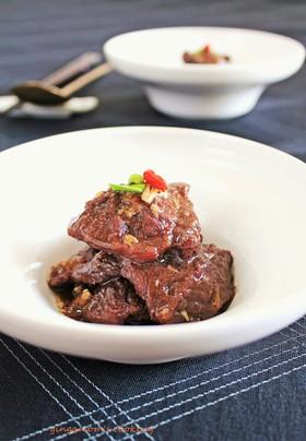 牛ほほ肉の赤ワイン煮~韓国風