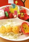 子供が喜ぶ!かぼちゃスープで食べるうどん