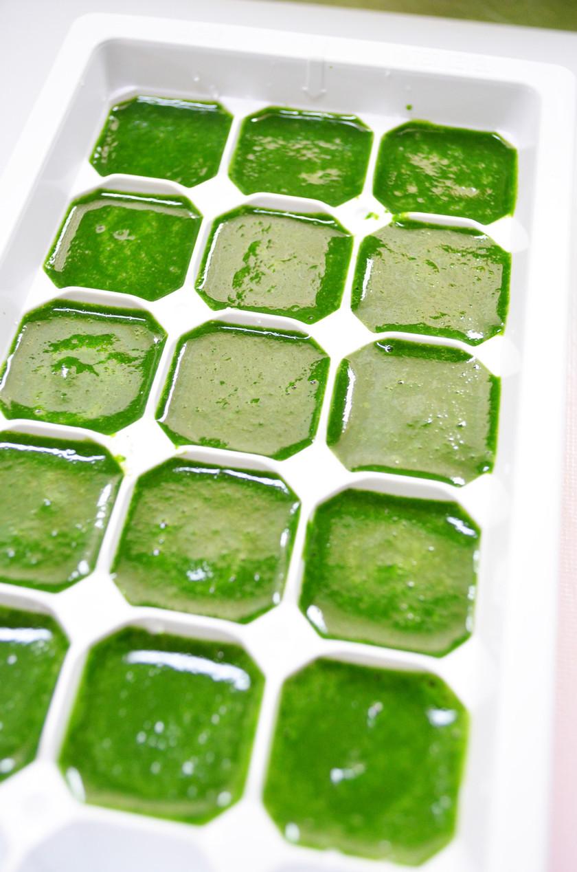◆離乳食初期 ほうれん草の冷凍・保存法