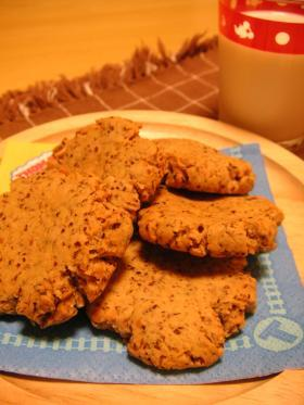 1才半の息子に♪ピーナッツクッキー小麦胚芽入り!!