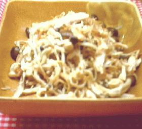 ささみと茸の中華炒め