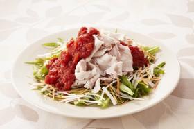 トマトでさっぱり冷しゃぶサラダ