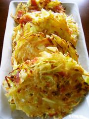 ジャガイモとキャベツのチーズ焼きの写真