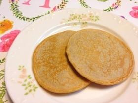 全粒粉でヘルシーに簡単もちふわパンケーキ