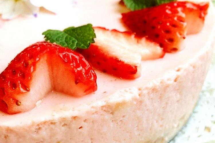 いちご レアチーズ ケーキ