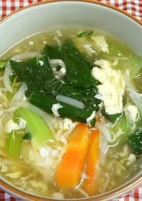たっぷり野菜の中華風かきたま汁