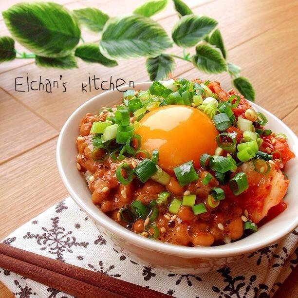 ✿ハマる♡韓国風納豆キムチご飯✿