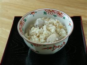 秋のメニュー 里芋ご飯