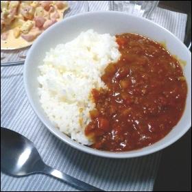 挽肉とトマトのカレー