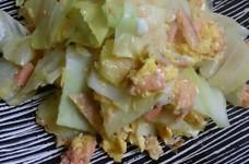 超簡単☆キャベツと鮭の卵とじ