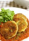 ヘルシー*里芋のコロッケ・トマトソース