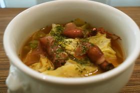 絶品!ホタルイカと春キャベツのスープ