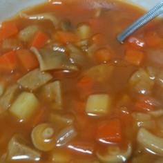 ケチャップで簡単☆ミネストローネ風スープ
