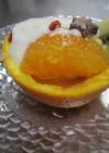 オレンジとキュウイの盛り合わせ