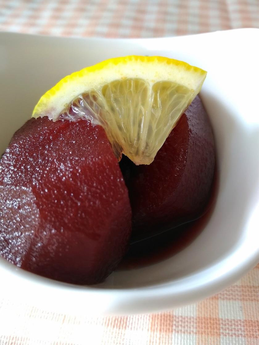 簡単リンゴの赤ワイン煮