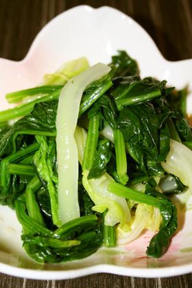 レンジで簡単ほうれん草・白菜のおひたし
