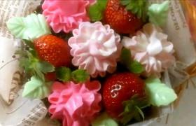 母の日に♪カーネーションの花かごケーキ