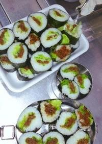 初心者簡単蜂蜜醤油麹生姜肉巻き寿司