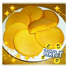 野菜ジュースで作るホットケーキ^^