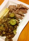 豚肉とオリーブオイル炒め野菜