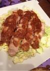 レンジで簡単☆豚バラ焼豚生姜味噌風味