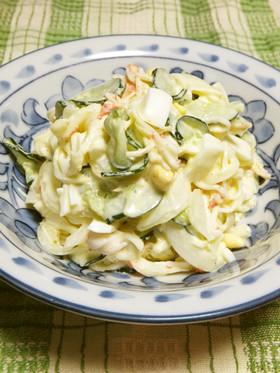 新玉ねぎときゅうりとゆで卵のサラダ