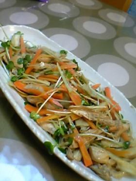 ササミのカリカリサラダ