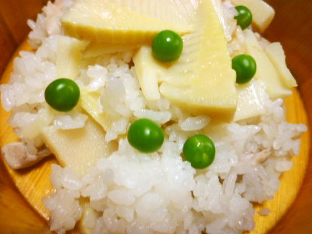 超姉さん宅の旬菜タケノコご飯☆