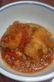 冷凍ロールキャベツで簡単トマトの煮物の写真