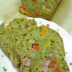 ♡ほうれん草と彩り野菜のケークサレ♡