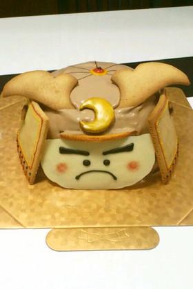 こどもの日★兜ケーキ(覚書)