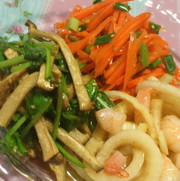 【副菜】 いろどり生野菜の春ナムルの写真