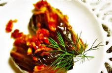 イタリアンな甘酢玉葱で茄子のマリネ