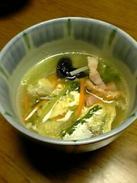 きゅうりのポカポカスープ