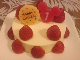 豆腐ヨーグルトチーズケーキ 1歳の誕生日