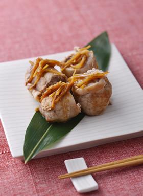 豚肉のくるくるオイスター生姜焼き