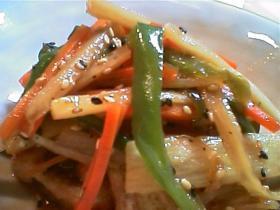 とろりん豆腐★:゚*'しゃきしゃき野菜のきんぴらのせ