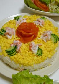 サーモンのバラでキュートなお寿司ケーキ♡