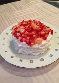 離乳食 誕生日ケーキ 食パンで簡単!