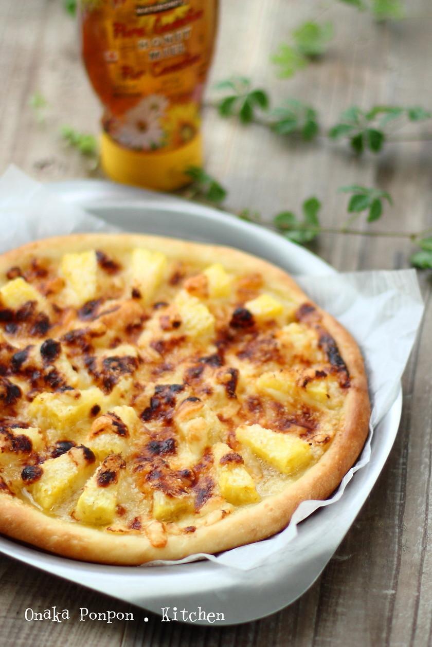 パイナップルのジューシー南国ピザ♡
