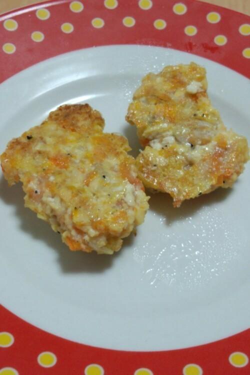 優しい離乳食♡シラスの豆腐ハンバーグ