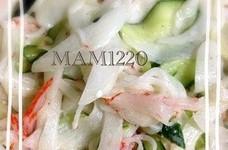 簡単☆カニカマ新玉ねぎのサラダ♪